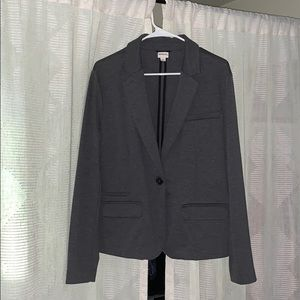 Gray Fitted Blazer